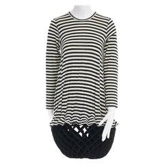 runway JUNYA WATANABE AW2015 black stripe origami lantern bubble skirt dress XS