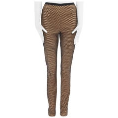 runway MAISON MARGIELA AW11 Tromp Loeil nude leather black fishnet legging pants