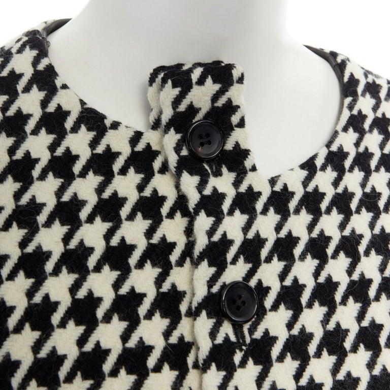 runway YOHJI YAMAMOTO AW2003 black houndstooth fringe angora wool jacket M JP2 For Sale 4