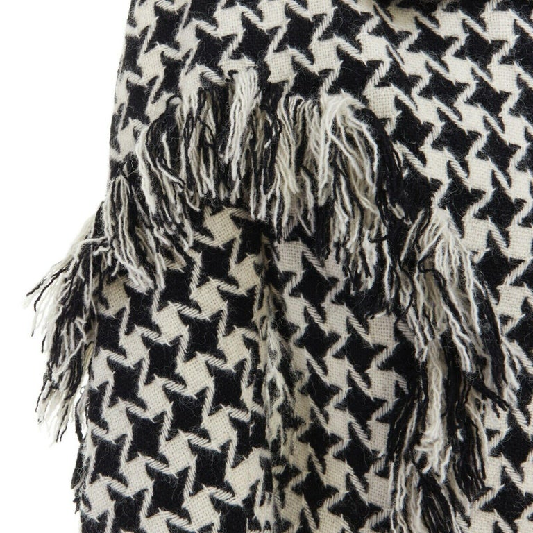runway YOHJI YAMAMOTO AW2003 houndstooth fringe trimmed rolled cuff jacket JP2 M For Sale 5