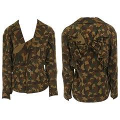 runway YOHJI YAMAMOTO SS2006 green camouflage ruffle winged layered jacket JP1 S