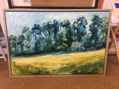 Near Soho Farmhouse, Great Tew, Oxfordshire BY RUPERT AKER, Original Painting