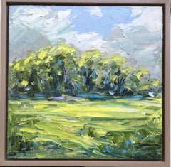 Rupert Aker, Ash Trees in Spring, Original Abstract Landscape Painting
