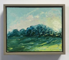 Rupert Aker, Ash Trees, Sunset, Landscape Art, Affordable Art, Art Online