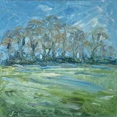 Rupert Aker, Ash Trees, Winter, Landscape Art, Affordable Art
