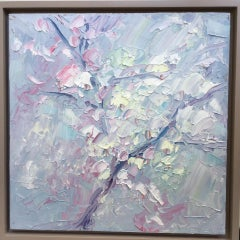 Rupert Aker, Blossom, Original Bright Floral Painting, Affordable Art