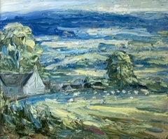 Rupert Aker, Clattergrove, Spring, Cotswolds Landscape Painting, Affordable Art