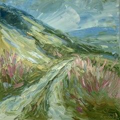 Rupert Aker, Crickley Hill, Landscape Art, Original Oainting, Affordable Art