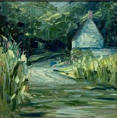 Rupert Aker, Ford at Middle Duntisbourne, Cotswolds Landscape Art