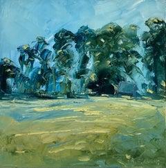 Rupert Aker, Great Tew, Summer, Cotswolds Landscape Art, Original Painting