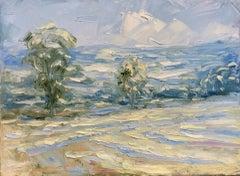 Rupert Aker, Hazy Summer, Landscape Art, Cotswold Landscape, Original Painting