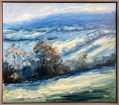 Rupert Aker, Sheepscombe, Winter, Original landscape painting
