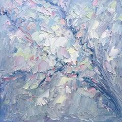 Rupert Aker, Spring Blossom, Original Floral Painting, Bright Expressionist Art