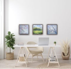 Rupert Aker, Spring Triptych, Original Landscape Paintings, Collection Art