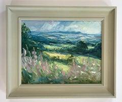 Rupert Aker Willowherb, Cud Hill, Original Painting, Affordable Art, Art Online