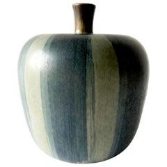 Rupert Deese California Studio Pottery Ceramic Apple Sculpture