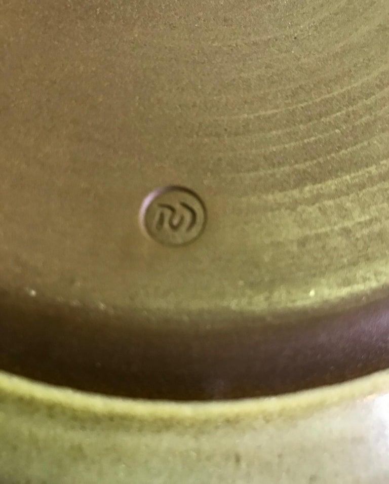 Rupert Deese Mid-Century Modern California Studio Pottery Ceramic Floral Bowl For Sale 1