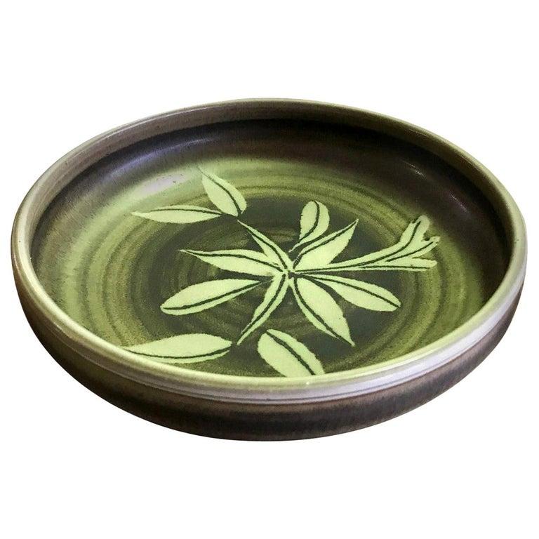Rupert Deese Mid-Century Modern California Studio Pottery Ceramic Floral Bowl For Sale