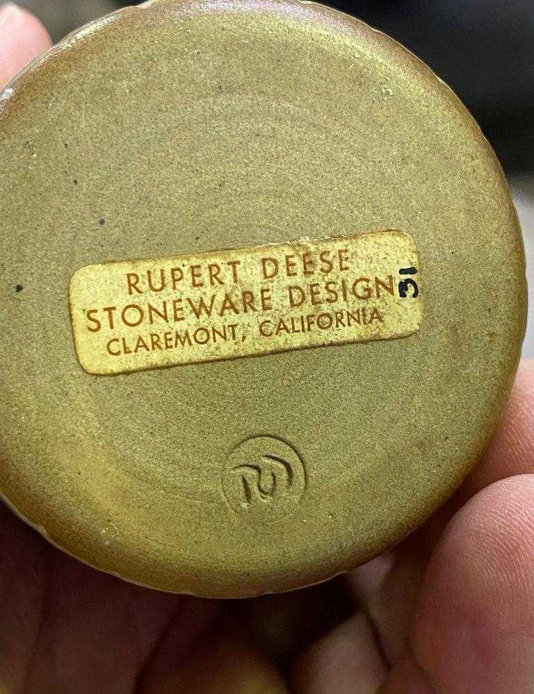 Rupert Deese Mid-Century Modern California Studio Pottery Ceramic Vase Vessel For Sale 1