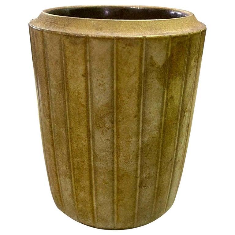 Rupert Deese Mid-Century Modern California Studio Pottery Ceramic Vase Vessel For Sale