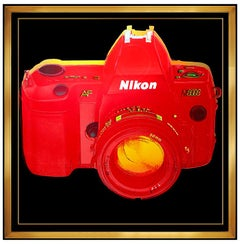 Rupert Smith Large Color Screenprint Hand Signed Art Nikon Camera Andy Warhol