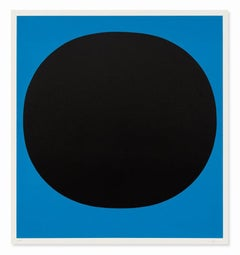 Black on Blue, 1969, Hand Signed Screenprint, Abstract Art, Minimalism