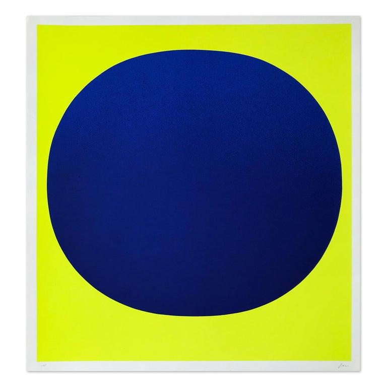 Rupprecht Geiger Abstract Print - Blue on Yellow, Silkscreen, Abstract Art, Minimalism, 20th Century