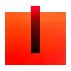 Dark Red on Light Red, Abstract Art, Geometric Abstraction, Minimalism
