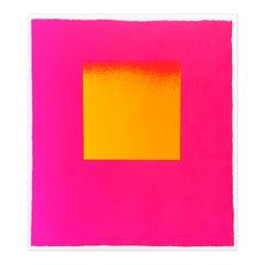 Luminous Red and Yellow, Abstract Art, Minimalism