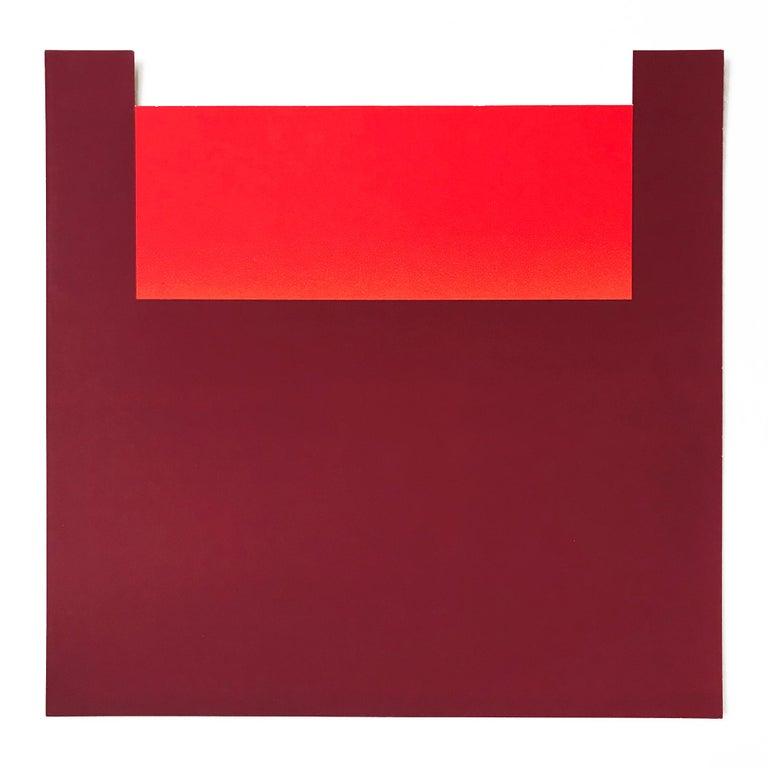 "Rupprecht Geiger Abstract Print - No. 11 (from ""All die Roten Farben""), Screenprint, Abstract, Minimalism"