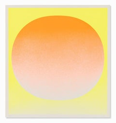 Orange on Yellow, 1969, Hand Signed Screenprint, Abstract Art, Minimalism