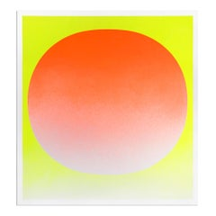 Orange on Yellow, 1969, Hand Signed Screenprint, Abstract Art, Minimalism