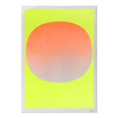 Orange on Yellow, Screenprint, Abstract Art, 20th Century, Minimalism