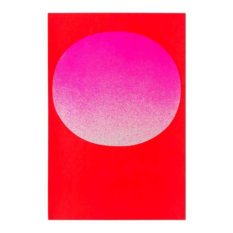 Rupprecht Geiger (German, 1908-2009) Pink on Red (from Modulation), 1969 Medium: Screenprint on 280g cardboard Dimensions: 48 × 32 cm (18 9/10 × 12 3/5 in) Edition of 150: Hand signed and numbered in pencil, verso Condition: Excellent