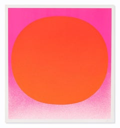 Red on Pink (from Colour in the Round), Abstract Art, Minimalism, 20th Century