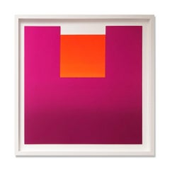 Red on Violet, Abstract Art, Minimalism, Modern Art, 20th Century