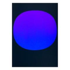 Rupprecht Geiger, Blue Violet on Black,  Abstract Art, Minimalism, 20th Century