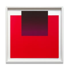 Violet on Red, Abstract Art, Minimalism, Modern Art, 20th Century