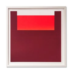 "Warm Reds, No. 11 (from ""All die Roten Farben""), Abstract Art, Minimalism"