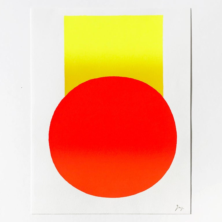 Yellow to Orange, Screenprint, Abstract Art, 21st Century, Minimalism 1