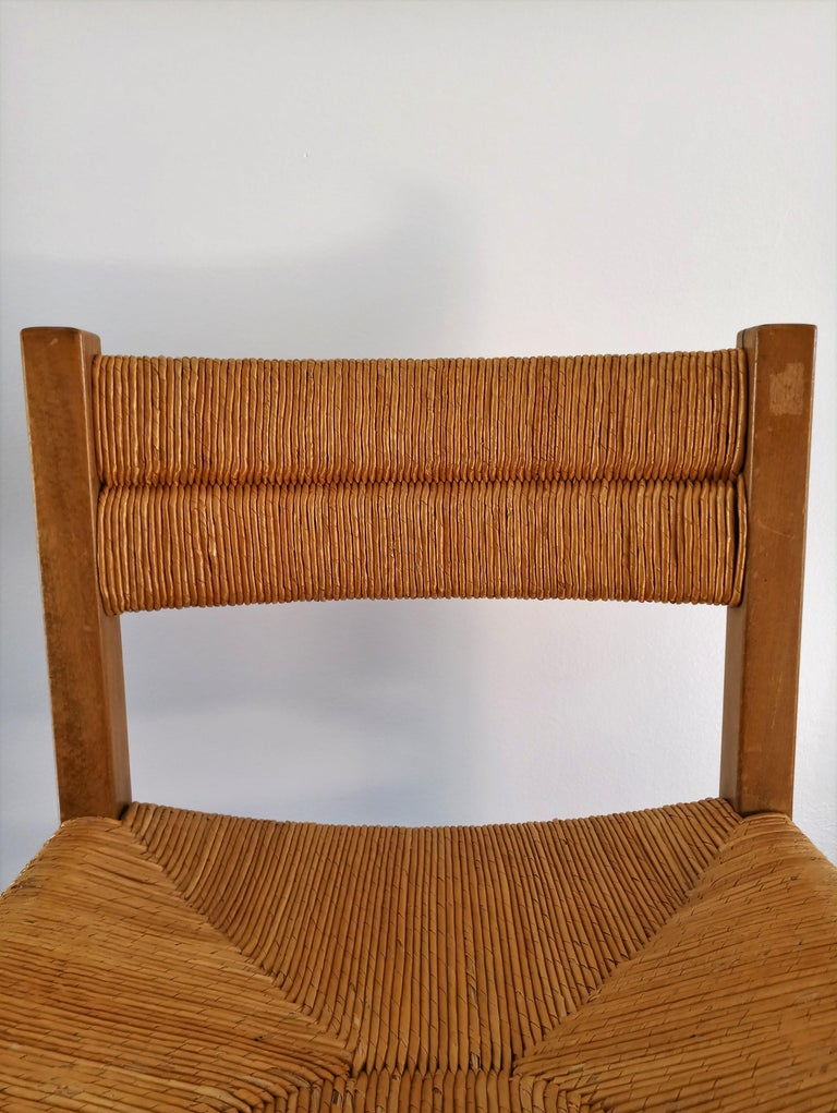 Rush Chair by Pierre Gautier Delaye, France, 1960s In Good Condition For Sale In New York, NY