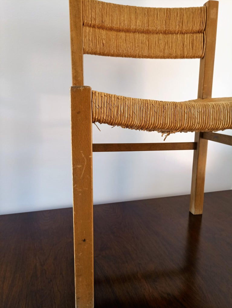 Mid-20th Century Rush Chair by Pierre Gautier Delaye, France, 1960s For Sale