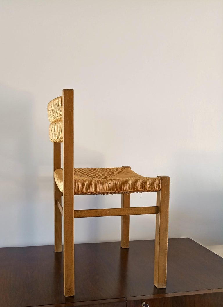 Rush Chair by Pierre Gautier Delaye, France, 1960s For Sale 1