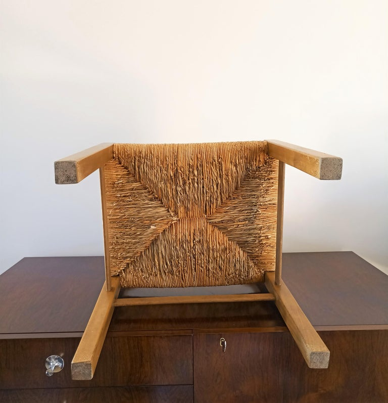 Rush Chair by Pierre Gautier Delaye, France, 1960s For Sale 2