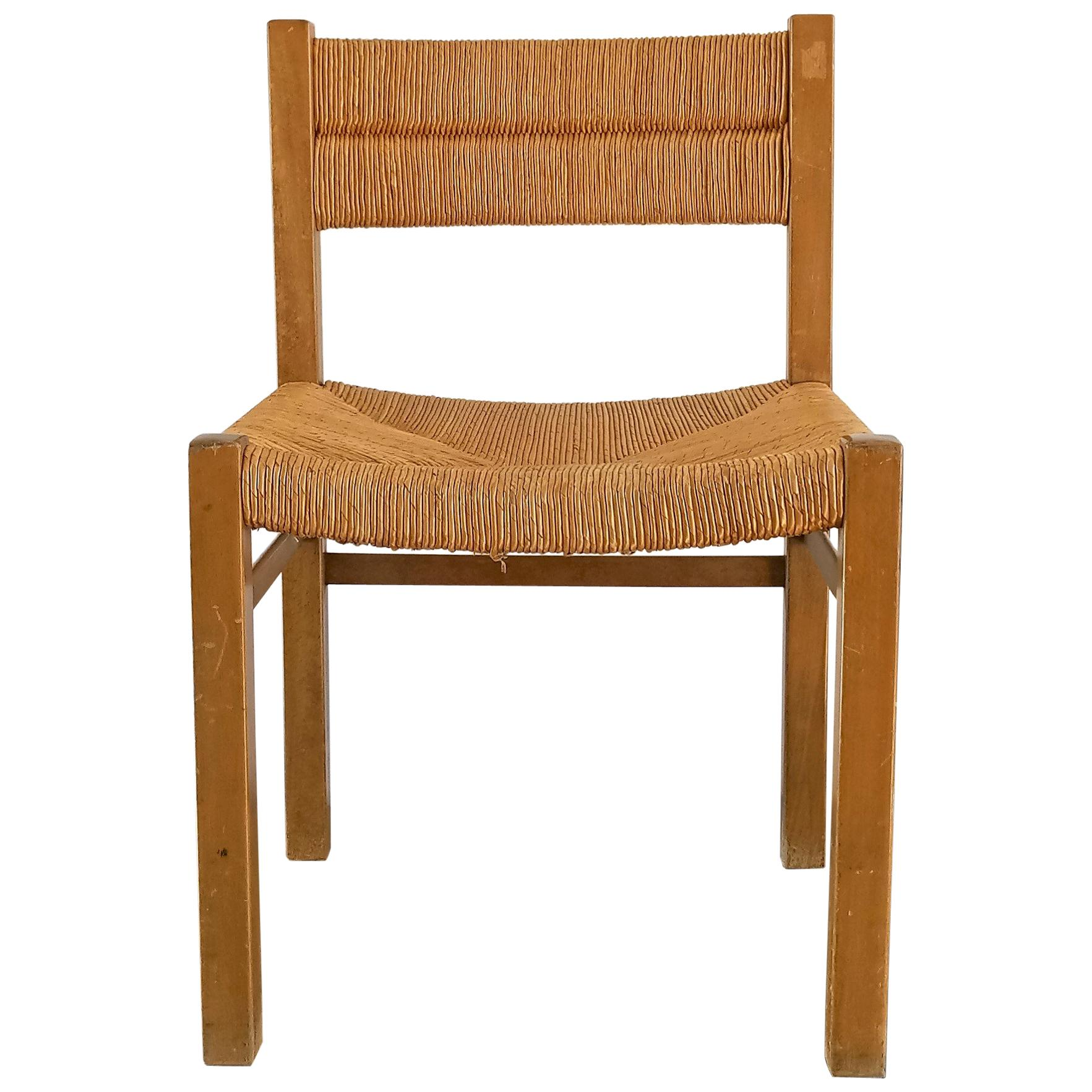 Rush Chair by Pierre Gautier Delaye, France, 1960s
