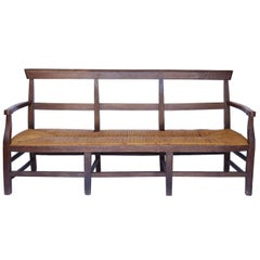 Rush Seat Bench from France