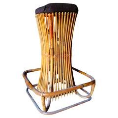 Rush stool design Tito Agnoli for Bonacina, 1950s