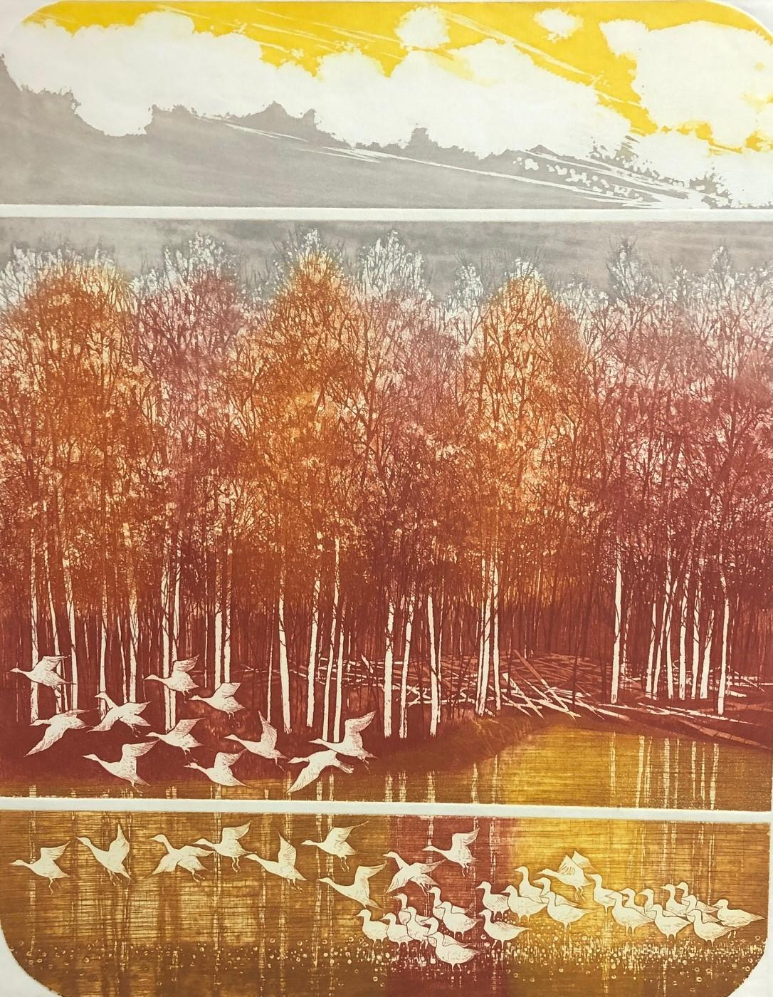 Meadow-Limited Edition Etching, Signed by Artist
