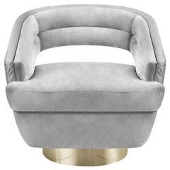 Russel Armchair in Light Gray