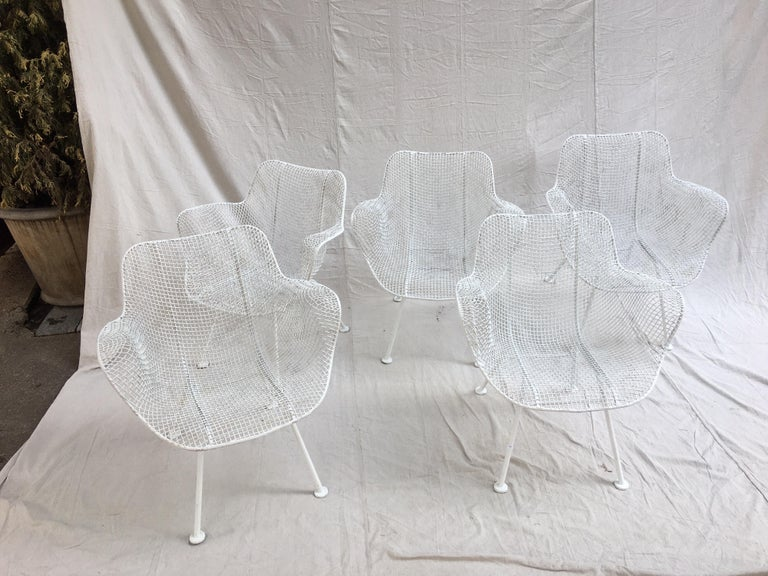 Mid-Century Modern Russel Woodard Set of 5 Armchairs For Sale